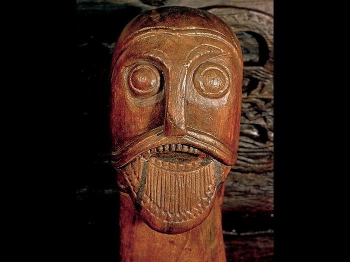 Голова викинга из погребения в Осеберге